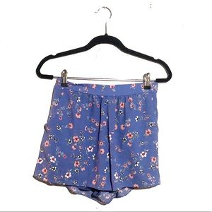 Everly floral elastic waist shorts blue s/xs